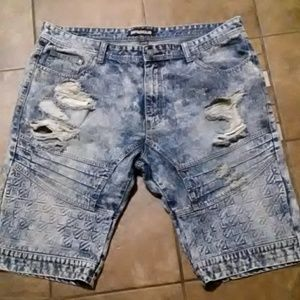 Men's Distressed Jean Shorts